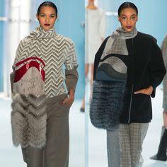 меховые шарфы Carolina Herrera
