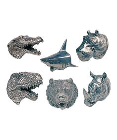 Look what I found on #zulily! Attack Plaque Magnet - Set of Six #zulilyfinds