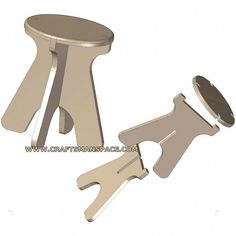 Collapsible stool pl
