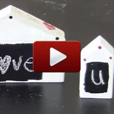 Follow along as Kristen Robinson shows how she uses chalkboard paint to share sentiments!
