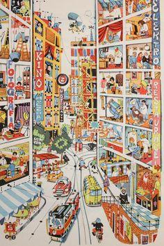 Nice big Pin Encyclopedia for children, by Bohumil Riha, illustrated by Vladimir Fuka (Vladimir Fuca) Inspiration Art, Art Inspo, Art Postal, Illustrations And Posters, Children's Book Illustration, Illustrators, Cool Art, Art Prints, Drawings