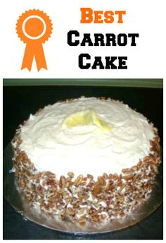 This is absolutely the best carrot cake recipe! I make it all the time and it never fails me. Perfect for your spring or Easter dinner!