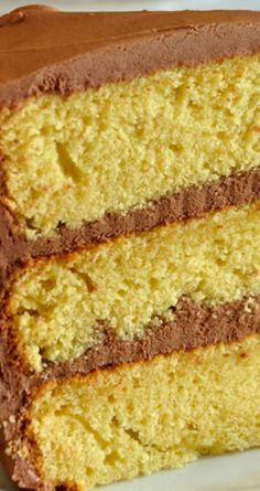 The Best Yellow Cake Recipe, Homemade from Scratch ~ A moist, delicious, beautifully textured cake