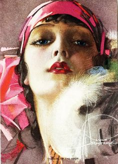 "vintagegal: "" ""Girl of the Hour"" by Rolf Armstrong c. "" 'Girl of the Hour' - 1923 - by Rolf Armstrong (American, Rolf Armstrong, Art Deco Illustration, Art Illustrations, Pinup Art, Moda Vintage, Vintage Art, Vintage Style, Norman Rockwell, Flappers"