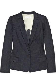 Etoile Isabel Marant Rargo pinstriped denim blazer NET-A-PORTER.COM - StyleSays