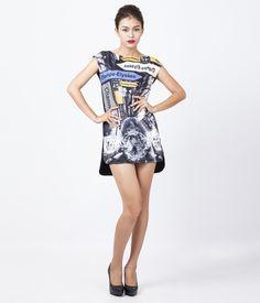 Váy suông sát nách có hình in thân trước, có khóa kéo sau lưng. http://canifa.com/nu/vay-suong-625303f.html