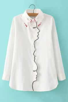 This gorgeous white shirt. It features long sleeves to keep you warm. Not only is it perfect for the workplace, but it is also an excellent choice to wear for work.