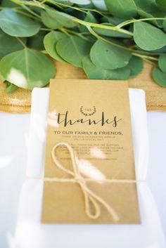 Wedding thank you cards for your guests with their place settings. #WeddingShot #BridalShot  #WeddingPhotography #PeltzerWinery #PeltzerFarms #PeltzerWeddings #Temecula #Winery #WineryWedding #EngagementPhotos #PlaceSettings #ThankYouCards