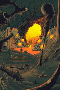 Nausicaä of the Valley of the Wind by Cristian Eres - Home of the Alternative Movie Poster -AMP-