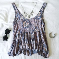 Urban Outfitters Tank Top Ecoté paisley printed tank top. Size XS but should fit Small as well Urban Outfitters Tops Tank Tops