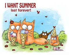 ICE CREAM day  Greeting card    PookieCat by PookieCatsWorld