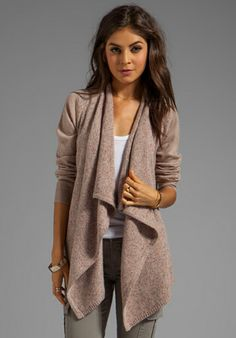 JOIE Solid With Marled Mix Starley Cardigan in Light Heather Oatmeal - Joie