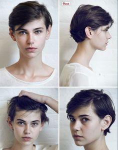 Resultado de imagem para tomboy wavy haircut
