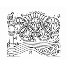 Brazil Inspired Coloring Pages