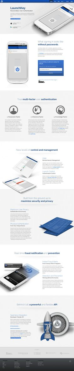 LaunchKey - Evolving User Authentication Killing Passwords - Webdesign inspiration www.niceoneilike.com