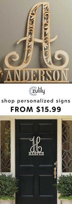 "Nothing says ""thoughtful"" like a gift that's made just for you. Discover the power of personalization with wood name signs, burlap garden signs, kids' night-lights, outdoor décor and everything in between. Wood Names, D House, Personalized Signs, Monogram Signs, My New Room, Decoration, My Dream Home, Home Projects, Wood Crafts"