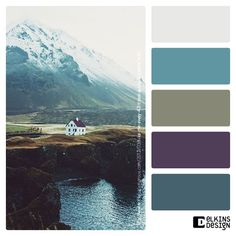 Master bath, like the gray for the walls. Colour Pallette, Colour Schemes, Color Combos, Iceland Beach, Find Color, Design Seeds, Colour Board, Color Stories, Color Theory