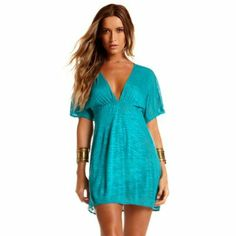 Best Swimsuit Cover Ups At Every Price. Like this Vitamin A Shantung Tunic. Click the image for more details.