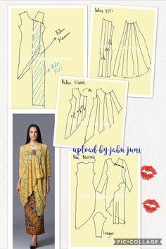 27 likes 1 comments Kebaya Lace, Kebaya Hijab, Batik Kebaya, Kebaya Dress, Batik Dress, Dress Sewing Patterns, Blouse Patterns, Clothing Patterns, Blouse Designs