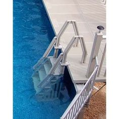 Review On Pool Ladders Best Swimming Pool Ladder Review 2020 - Report Outdoors Swimming Pool Ladders, Above Ground Swimming Pools, In Ground Pools, Pool Decks, Pool Backyard, Pool Landscaping, Above Ground Pool Ladders, Pool Steps, Buy Vinyl