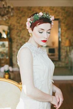 I love the idea of a flower crown especially in the fall.