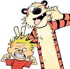 Calvin e Haroldo - Caretas