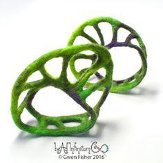 Mobius Textile Felt Bracelets -  Gwen Fisher