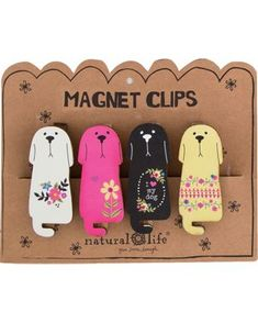 Natural Life 4-pc. Dogs Magnet Clip Set