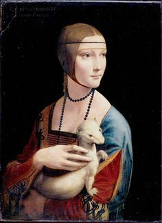 Lady with an Ermine by Leonardo da Vinci --  my favourite...