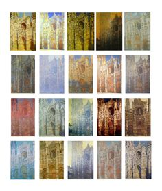 Claude Monet - 1892-1894: series of the Rouen Cathedral