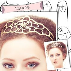 Tiaras for short hair. Awesome hair accessories listed here!