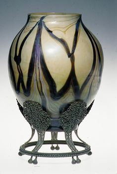 Tiffany Studios, New York, Favrile Glass and Patinated Bronze Desk Lamp.