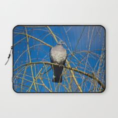 Pigeon Perch Laptop Sleeve by vickifield