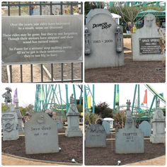 Cedar Point Halloweekends Old Ride Graveyard-I don't remember the swan boats!! But the pirate ride I DO remember LOVING IT!