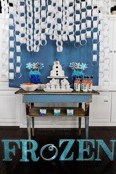 several ideas for a frozen themed party
