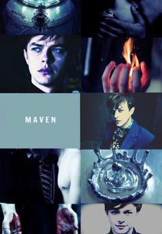 Dane De Haan as Maven Calore in the red queen series