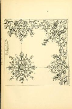 1900 - L'uvre de De Cuvilliès : époque Louis XV : nouveau livre de plafonds -  by Cuvilliés, François
