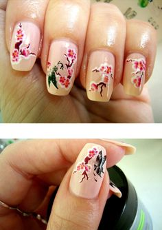 Pretty Sakura Nails! <3