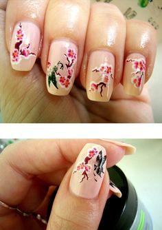 Pretty Sakura Nails! <3