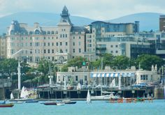 royal marine hotel overlooking dun laoghaire harbour dublin.