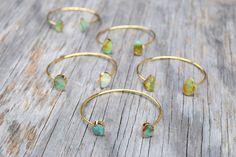 Raw Turquoise Bracelet, Free Form Turquoise Cuff Bracelet, Gold and Turquoise Stone Bangle, Druzy Style Stone Cuff, Genuine Turquoise by HalfMoonFusion on Etsy https://www.etsy.com/au/listing/292724625/raw-turquoise-bracelet-free-form