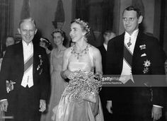 Queen Ingrid wore this tiara for a dinner in London for the British-Danish Society on May 17, 1939.