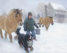 Robert Duncan Dinner Call Native American Art, Western Art, and Wildlife Art. Fine art prints and posters framed, custom framing Snow Scenes, Winter Scenes, Robert Duncan Art, Figurative Kunst, Lds Art, Mary Cassatt, Into The West, Call Art, Equine Art