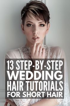 Whether you're looking for wedding hairstyles for short, medium length, or long hair, we've curated 45 gorgeous step by step DIY tutorials to inpsire you! Medium Long Hair, Medium Hair Styles, Curly Hair Styles, Chin Length Hair, Shoulder Length Hair, Heatless Hairstyles, Down Hairstyles, Romantic Hairstyles, Pretty Hairstyles