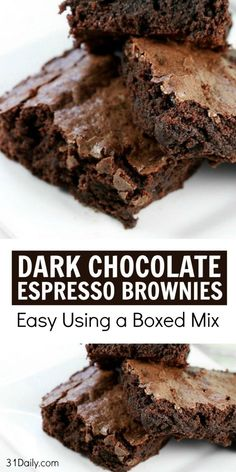 Dark Chocolate Brownies, Chocolate Espresso, Espresso Coffee, Coffee Coffee, Italian Espresso, Coffee Pods, Chocolate Cookies, Coffee Break, Pastries