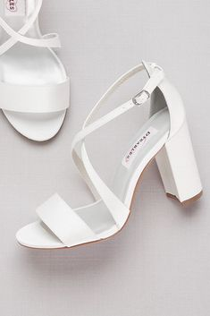 Best Free Dyeable Crisscross Strap Block Heel Sandals Style MICAHWHITE, White, Concepts An easy way to check is always to go over your finances fo. Wedding Shoes Block Heel, White Wedding Shoes, Wedding Boots, Wedding Shoes Heels, Prom Heels, Bride Shoes, Gold Wedding, Floral Wedding, Dyeable Wedding Shoes