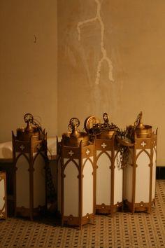 Gothic church lanterns - found at preservation station