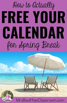 Teacher, Spring Break is a time for you to rest, recharge, and do things for yourself, not to catch up on school work. Leave school at school and truly enjoy your Spring Break with these 5 simple tips to free your calendar! Teaching Supplies, Teaching Jobs, Teaching Resources, Teacher Organization, Teacher Hacks, New Teachers, Elementary Teacher, Homework Bingo, School Frame