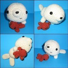 Baby Seal and his Fishie amigurumi crochet pattern.