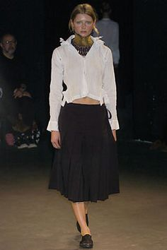 Junya Watanabe Spring 2005 Ready-to-Wear Collection Slideshow on Style.com zipper necklace